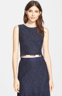 Lace Crop Top by Rebecca Taylor in Suits