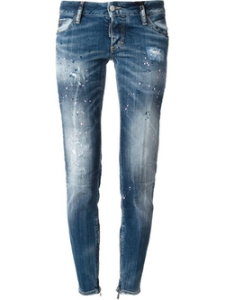 Distressed Skinny Jeans by DSquared2 in Empire
