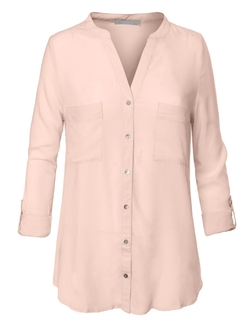 Loose Button Down Shirt Blouse by RubyK in Suits