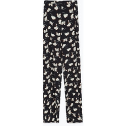 Printed Bell Bottom Trouser Pants by Zara in Pretty Little Liars