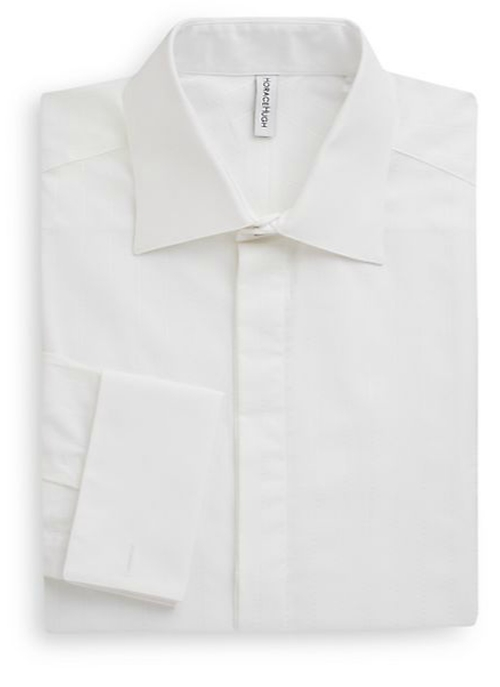 Cotton French Cuff Dress Shirt by Horace Hugh in She's Funny That Way
