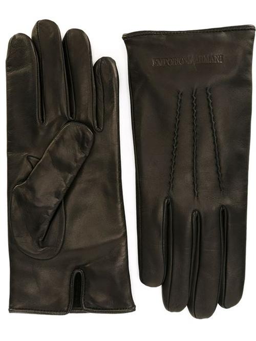 Stitching Detail Gloves by Emporio Armani in Crimson Peak