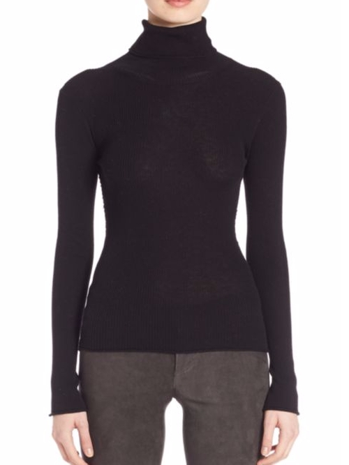 Roberta Ribbed Cutout Silk Blend Sweater by Alice and Olivia in Keeping Up With The Kardashians