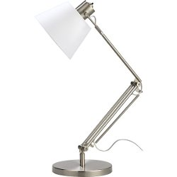 Slim Desk Lamp With White Shade by Crate & Barrel in That Awkward Moment