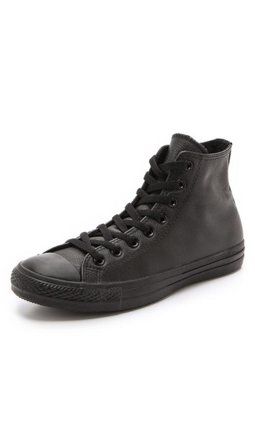 Chuck Taylor All Star Leather High Top Sneakers by Converse in Ride Along