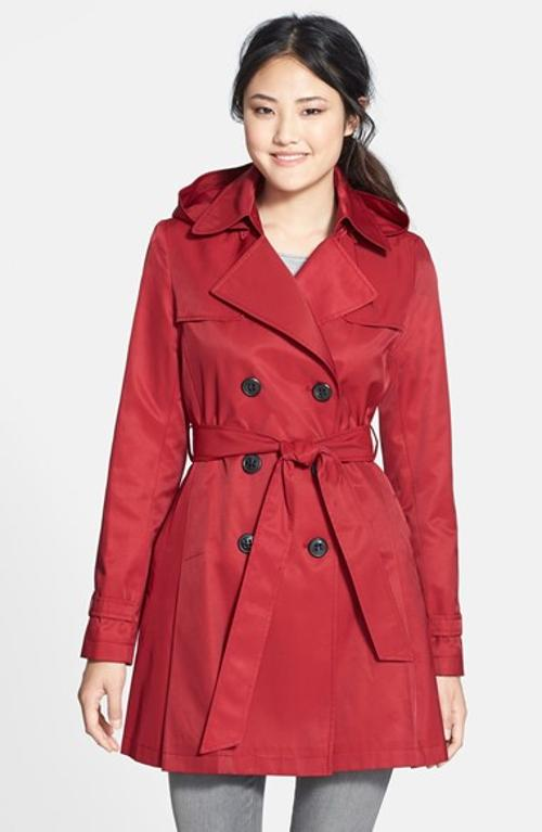 Skirted Hooded Trench Coat by Dkny in New Year's Eve