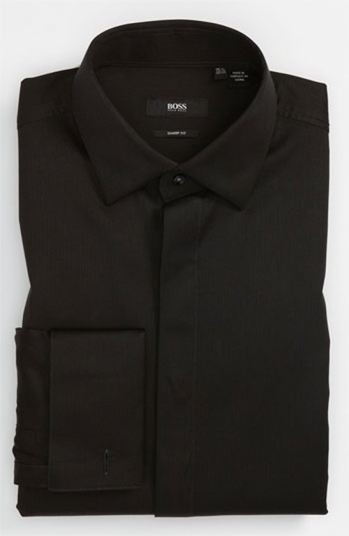 'Marlyn' Sharp Fit Tuxedo Shirt by Hugo Boss in Need for Speed