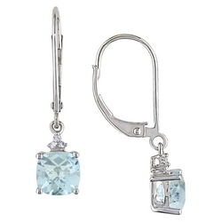 Diamond Dangle Lever back Earrings by Allura in A Walk in the Woods