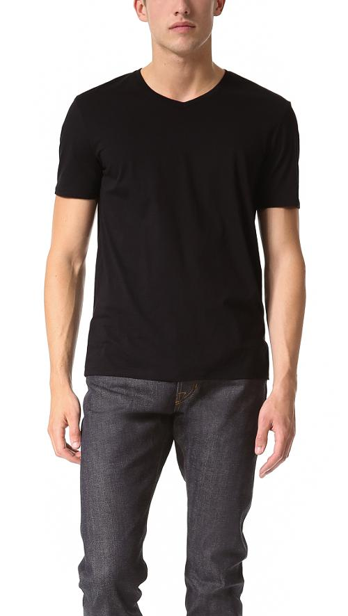 V Neck Tee by Vince in Ted