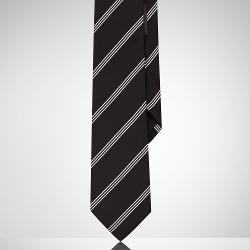 Striped Silk Tie by Black Label in Frank Miller's Sin City: A Dame To Kill For
