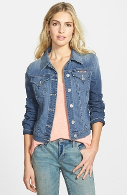 Stretch Denim Jacket by Hudson Jeans in Me and Earl and the Dying Girl
