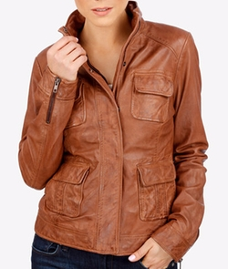Leather Utility Jacket by Lucky Brand in Jack Reacher: Never Go Back
