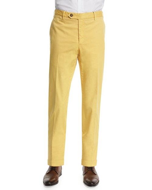 Parker Cotton-Stretch Pants by Zanella in Scream Queens