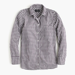 Mini Gingham Boy Shirt by J. Crew in Supergirl