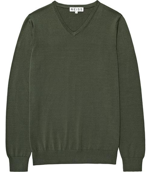 MERCERISED COTTON V-NECK JUMPER  GREEN by JUDE in The Fault In Our Stars