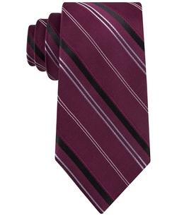 Vitality Stripe Tie by Michael Michael Kors in Rosewood