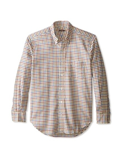 Check Carnegie Button Down Regular Fit Shirt by J. McLaughlin in Master of None
