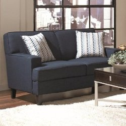 Loveseat in Blue Transitional Style by Finley Collection in Horrible Bosses 2