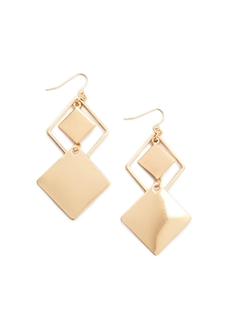 Square Drop Earrings by Forever 21 in Rosewood