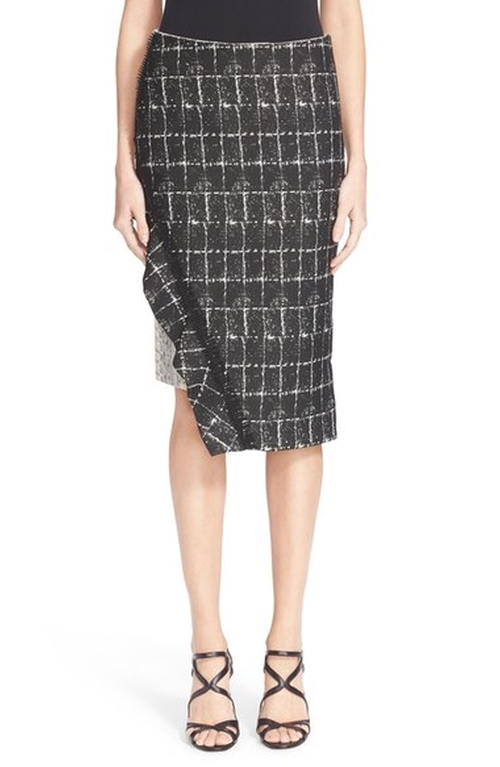 Asymmetrical Ruffle Pencil Skirt by Jonathan Simkhai in Mistresses - Season 4 Episode 12