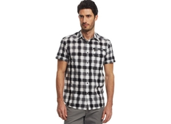 Reaction Buff Checked Zip-Pocket Shirt by Kenneth Cole in Pretty Little Liars