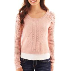 Cropped Lace Sweater by Arizona in Unbroken