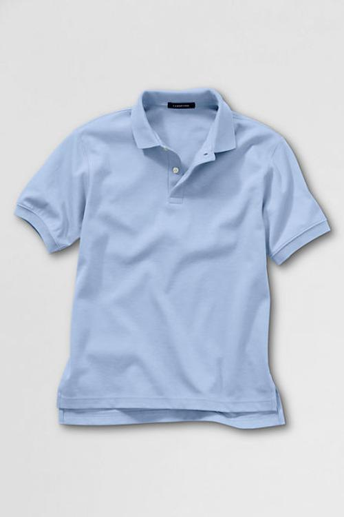 Big Kids' Short Sleeve Solid Performance Interlock Polo Shirt by Lands' End in Addicted