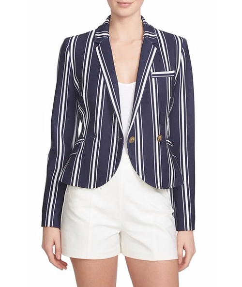 Shrunken Stripe Blazer by 1.State in House of Cards