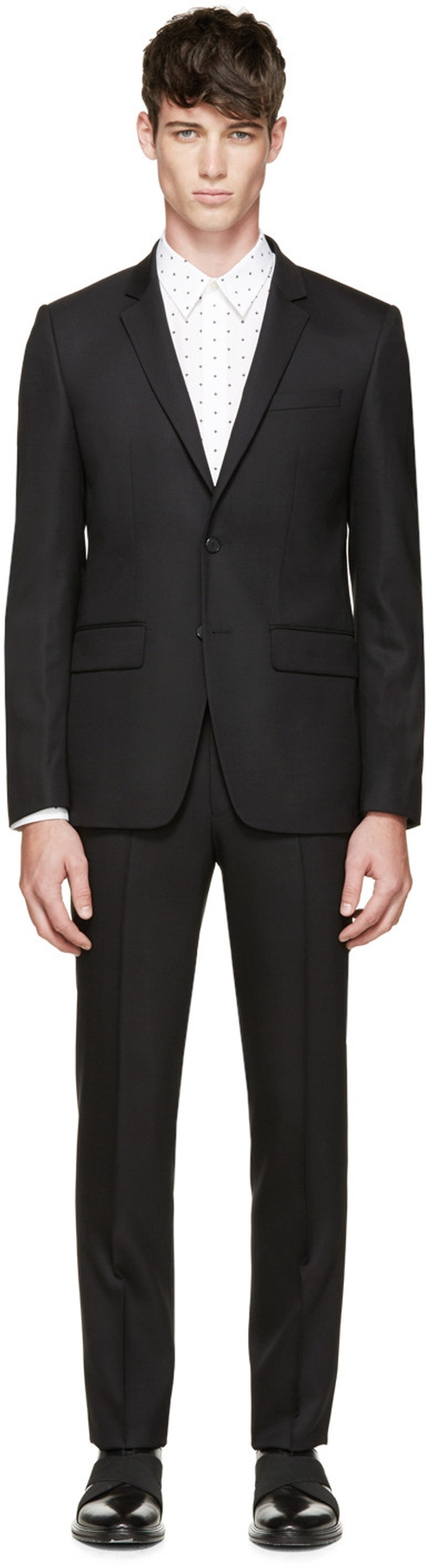Black Wool Suit by Givenchy in Life