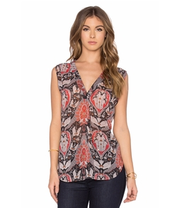 Sleeveless Printed Blouse by Bishop + Young in Quantico