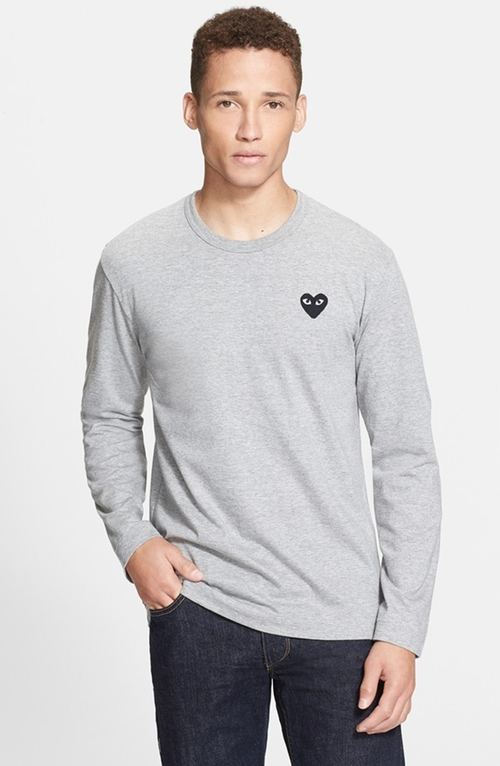 'Play' Long Sleeve Crewneck T-Shirt by Comme des Garçons in The Proposal