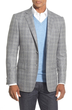 New York Classic Fit Plaid Wool Sport Coat by Hart Schaffner Marx in The Big Short