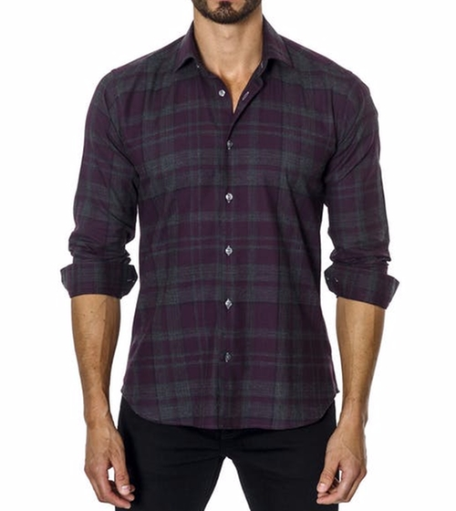 Clay jensen 39 s purple unsimply stitched ust 106 sport shirt for Simply for sports brand t shirts
