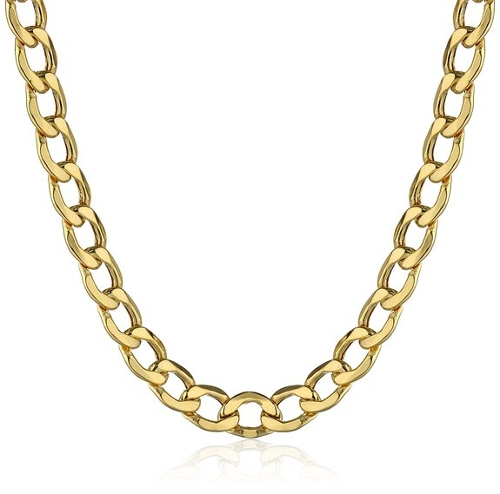 Curb Link Chain Necklace by Amazon Collection in Dope