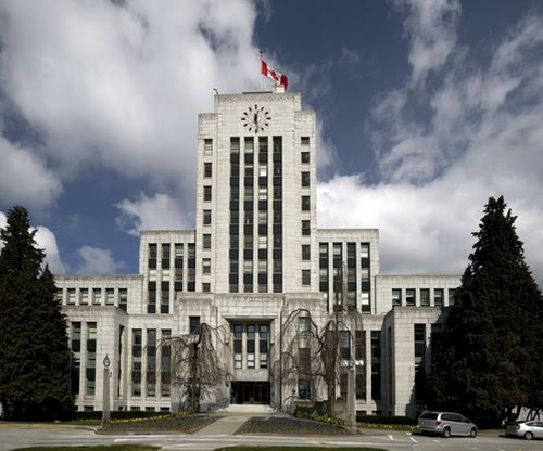 Vancouver City Hall (Depicted as Central City Police Department) Vancouver, Canada in The Flash - Season 2 Episode 22 - Invincible