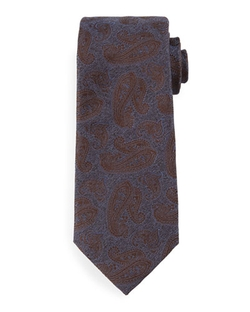 Tonal Paisley-Print Silk Tie by Isaia in The Blacklist