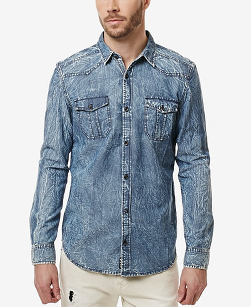 Salar Chambray Long-Sleeve Shirt by Buffalo David Bitton in Dirk Gently's Holistic Detective Agency