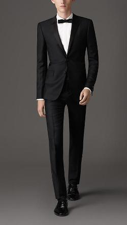 SLIM FIT WOOL MOHAIR TUXEDO by Burberry in Brick Mansions