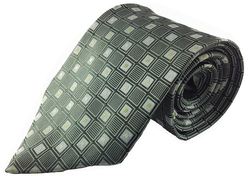 Square Pattern Silk Necktie by Kai in The Big Bang Theory