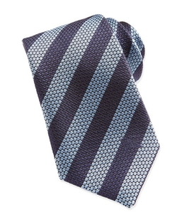 Striped Woven Tie by Burberry	 in Suits