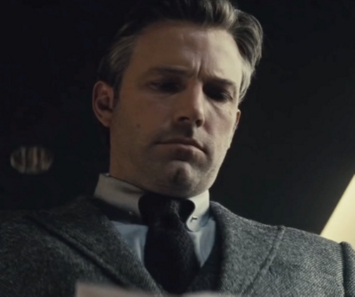 Custom Made Black Knit Tie by Gucci in Batman v Superman: Dawn of Justice