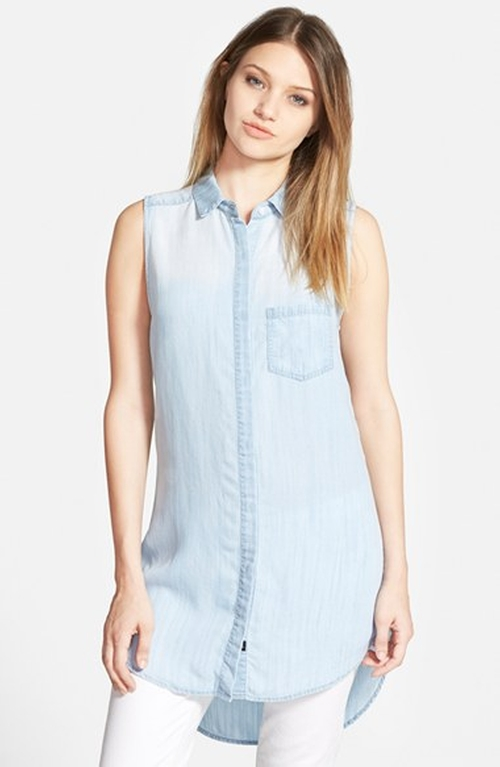 'Elizabeth' Chambray Tunic Dress by Rails in The Vampire Diaries - Season 7 Episode 5