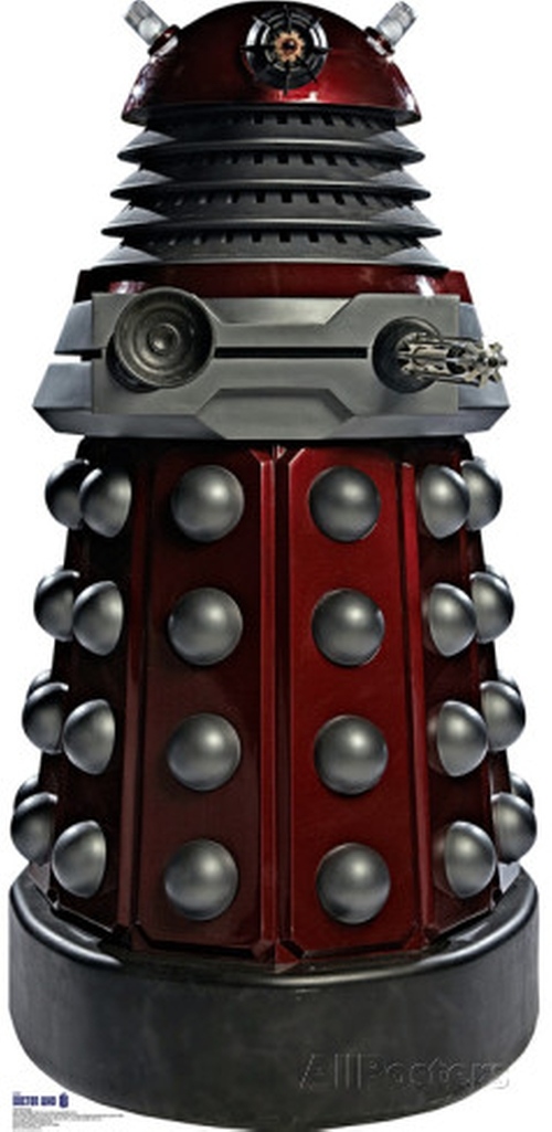 Doctor Who: Red Dalek Cardboard Standup by BBC Doctor Who Official Shop in The Big Bang Theory - Season 9 Episode 4
