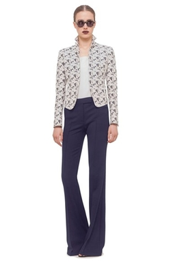 Mini Dot Jacquard Jacket by Akris Punto in The Good Wife