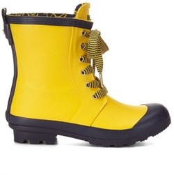 Laceup Rubber Rain Boot by C.Wonder in Pitch Perfect 2
