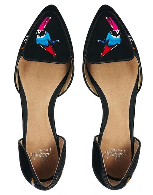 Oniradien Bird Print Slip on Shoes  by Shellys London  in Pretty Little Liars - Season 6 Episode 17