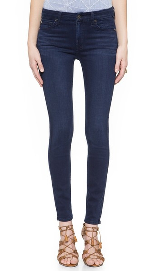 The Mid Rise Slim Illusion Luxe Skinny Jeans by 7 For All Mankind in Suits