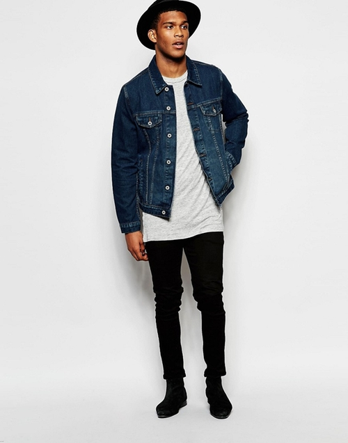 Dark Wash Denim Jacket by Asos in Roadies - Season 1 Preview