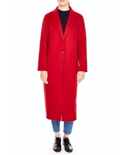Long Wool Coat by Sandro in Will & Grace