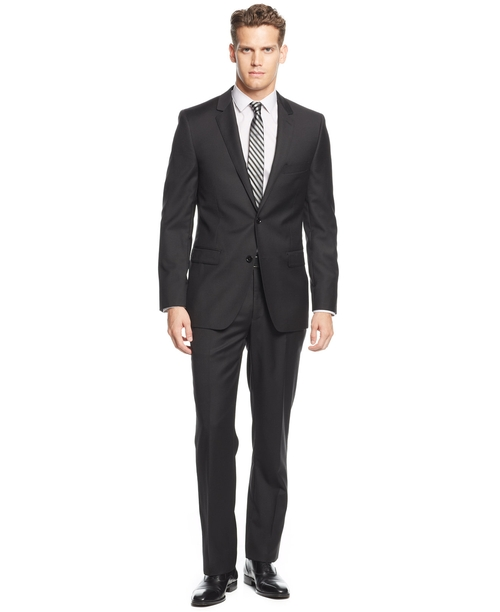 Solid Extra-Slim-Fit Suit by DKNY in Deadpool